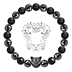 When seeing this natural stone beaded bracelet in the theme of Panther, you may think it a bracelet for men. However, we design and create it without any definition of gender or age. As long as your wrist can wear a 7 inch regular-size bracel...