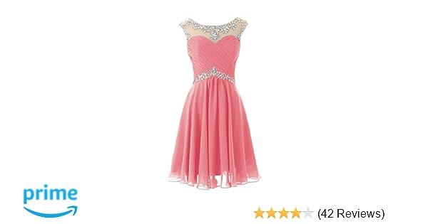 Amazon.com: DRESSTELLS Short Prom Dresses Sexy Homecoming Dress Chiffon Birthday Party Dress: Clothing