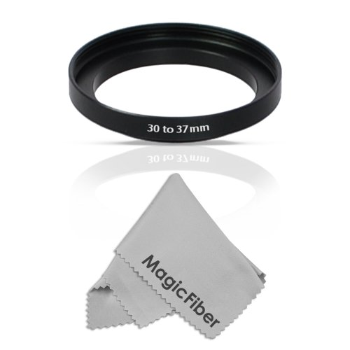 Goja 30-37MM Step-Up Adapter Ring (30MM Lens to 37MM Accessory) + Premium MagicFiber Microfiber Cleaning Cloth
