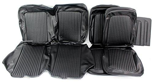 TMI 43-70228-958-3437 Mustang Black Vinyl Full Set Upholstery (Coupe)