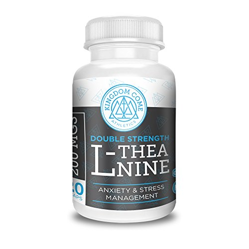 L-Theanine 200mg *120 VCaps* Natural Instant Anxiety, Panic & Stress Relief, Mood, Sleep & Focus Enhancer *Double Strength* By Kingdom Come Athletics