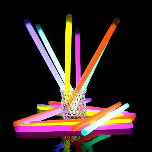 "Novelinks 20 Pcs 12"" Jumbo Glow Sticks Bulk - Bright Glow Stick Party Favors Supplies in The Dark Light Sticks (20 Count) ()"