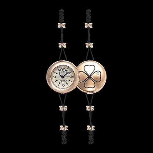 Marco Mavilla - Colección Pepito - Reloj de mujer con trébol de la suerte, color oro rosa - PLK01RG: Amazon.es: Relojes