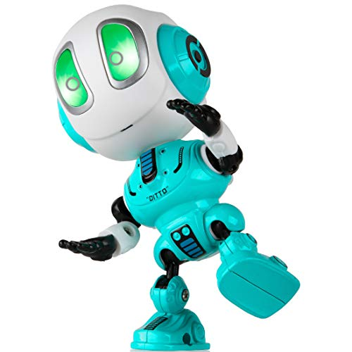 Toy Robots for Boys or Girls - Ditto Mini Talking Robots for Kids w/ Posable...