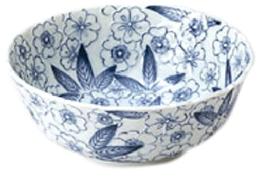 Mino Craft dyeing flower dance Medium Bowl