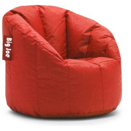 (Big Joe Milano Bean Bag Chair Multiple Colors, Provides Ultimate Comfort, Great for Any Room (Fire Engine Red))
