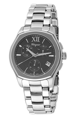 Salvatore-Ferragamo-Mens-LUNGARNO-CHRONO-Quartz-Stainless-Steel-Casual-Watch-ColorSilver-Toned-Model-FLF970015