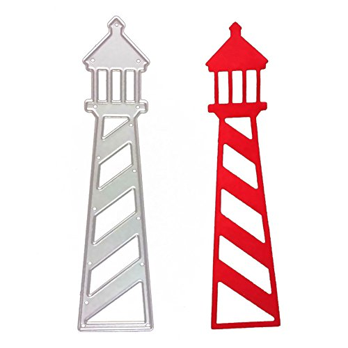 Promisen Metal Cutting Dies for DIY Scrapbooking, Greeting Card Decor Embossing Folder Cut Or for Crafts,Cactus,Tree, Tower (H)