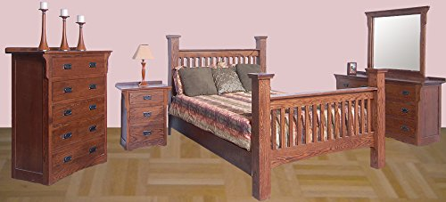 Forest Designs Arts & Crafts Slat Bed & Chest & Dresser & Mirror & Nightstand W King Unfinished Alder Alder Set Dresser