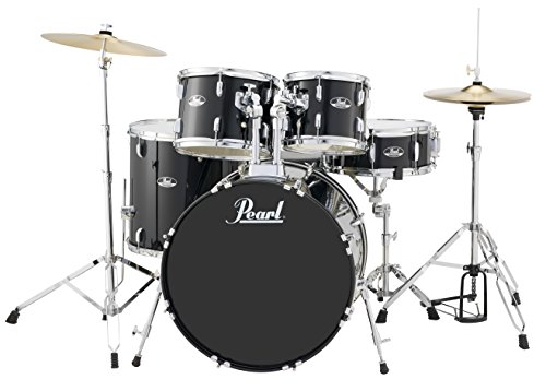 - Pearl RS525SCC31 Roadshow 5-Piece Drum Set, Jet Black