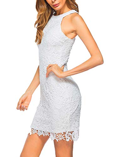 Lamilus-Womens-Casual-Sleeveless-Halter-Neck-Party-Lace-Mini-Dress