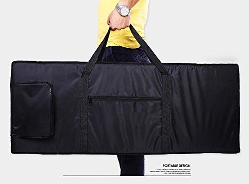 61 Key Electronic Keyboard Bag Black Case Oxford Travel Bag - 4