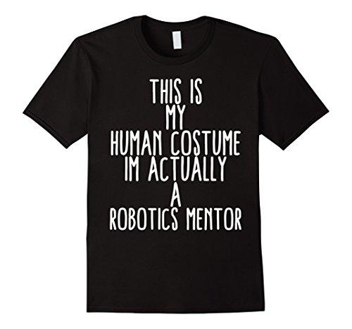Mens Human Costume Robotics Mentor Science Robo Coach Gift Shirt XL (Halloween Costume Vampire Nurse)