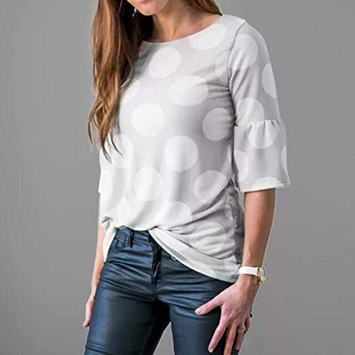 Top 3 Polka Rond Chic De Dots Tshirts Casual Haut Mode Jeune Col Manches Grau Bonne lgant Femme Tshirt Qualit Et Costume Trompette 4 Mode Manches qqFPIw