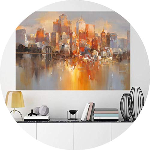 (Modern Posters Home Decor Modular Painting Abstract City Street The Wall Pictures Oil Paintings Art Hd Print Canvas Picture,20x25cm no Frame)