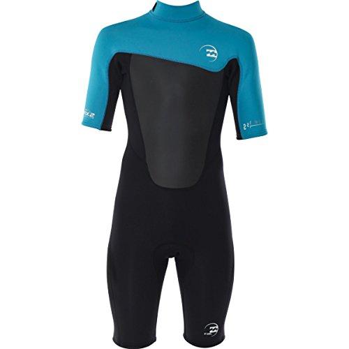 Billabong Kids Boy's Foil 202 Back Zip Short Sleeve Spring (Big Kids) Turquoise Wetsuit 16 (Big Kids)