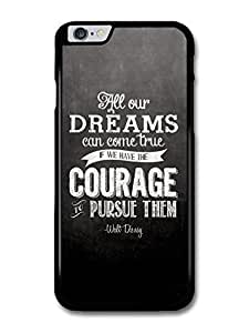 """AMAF ? Accessories All Our Dreams Can Come True Walt Disney Animation Movie Quote case for for iPhone 6 Plus (5.5"""")"""