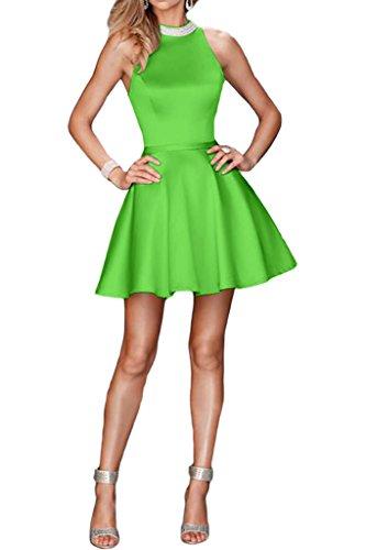 a linea Dress abito perline scollo raso leid ivyd Prom cocktaik breve da Verde di Donna sera ressing con Sweetheart wqwYZ06