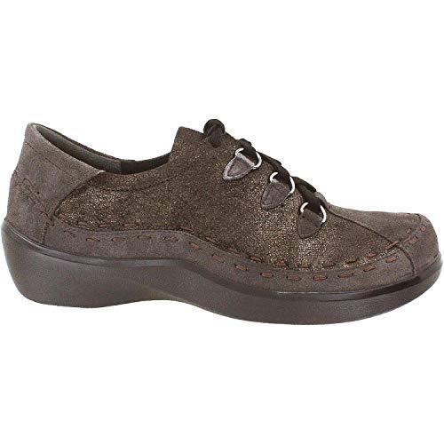 Ziera Women's Allsorts Espresso Metallic Suede/GRIG Nubuck 39 Wide (Ziera Shoes)