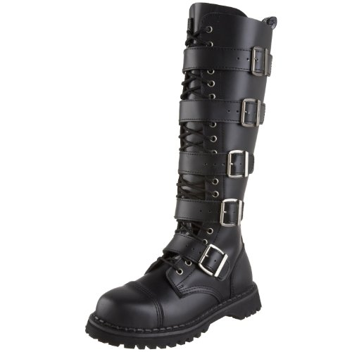 Pleaser Men's Riot-20 Buckle (Leather Buckle Boot)