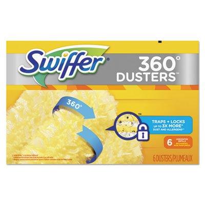 Swiffer 21620BX 360 Dusters Refill, Dust Lock Fiber, Yellow, 6/Box