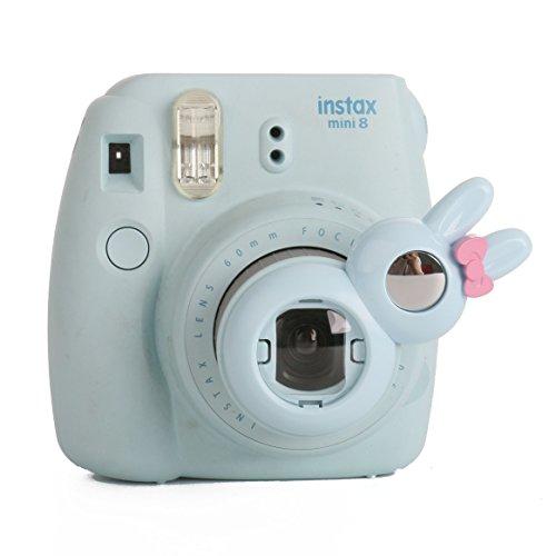 [Fujifilm Instax Close up Lens]-Woodmin Rabbit-style Selfie Lens for Fuji Instant Mini 8/8 Plus/7s Camera (Blue) (Aluminum Traveler Case)