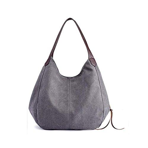 bolsos bolsos moda de la bolsos las lona de de de bolsos mujeres hombro de de hombro los de de de de la de los hombro los los hombro hombro de Gris Bolsos qAz0Bw6W