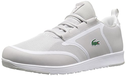 Lacoste Women's L.IGHT 116 1 Fashion Sneaker, Light Grey/White, 7.5 M US