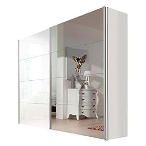 Armario de puertas correderas Vogue 250 x 216 x 68 cm blanco