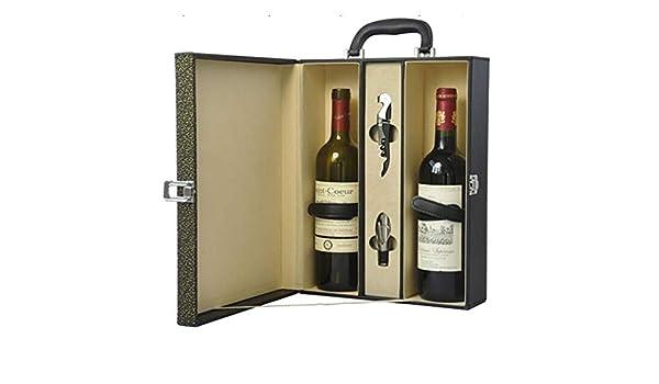 Compra TFACR Estuche Antiguo para Botellas de Vino - Caja de Regalo de Vino con Mango de Cuero PU, Cajas para vinos Regalo en Amazon.es