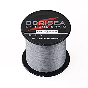 Dorisea Extreme Braid 100 Pe Grey Braided Fishing Line 109Yards-2187Yards 6-550Lb Test Fishing Wire Fishing String-Abrasion Resistant Incredible Superline