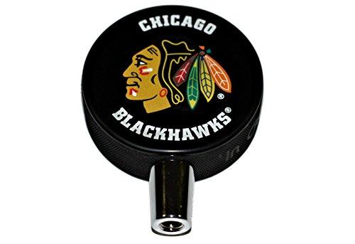 Chicago Blackhawks Basic Logo Hockey NHL Puck Beer Tap Handl