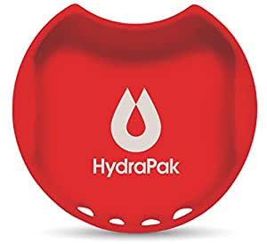 Hydrapak Watergate Wide Mouth Splash Guard, Golden Gate Red, 63mm