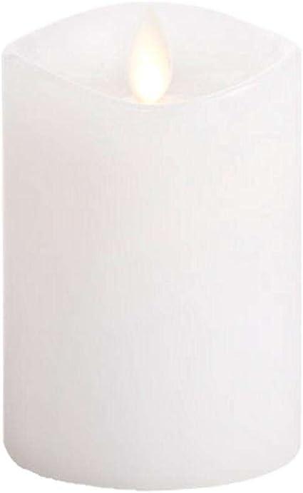 Amazon Com Darice Luminara Flameless Candle Unscented White Wax 360 Pillar 4 In Toys Games