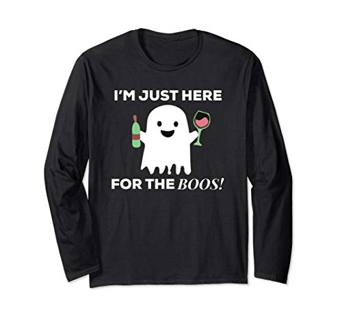 I'm Just Here For The Boos Halloween Long Sleeve Shirt -