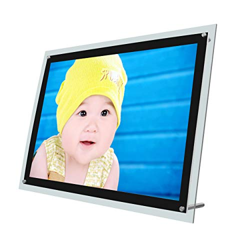 Table Stand Ultra Thin Led Edge Lit Light Plate Panel Box With Picture Frame Advertising