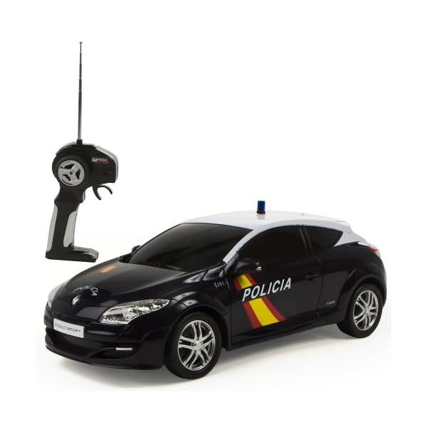 Mondo Toys - Renault Megane Policía Nacional Española, coche con radiocontrol 1:14 (63202) 2