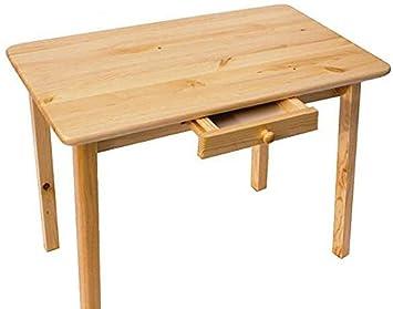 Esstisch mit Schublade Küchentisch Tisch Kiefer massiv Restaurant ...