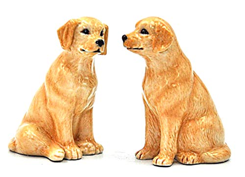 (Cosmos Gifts Yellow Labrador Retriever Dogs Ceramic Salt and Pepper Shakers 20769 New)