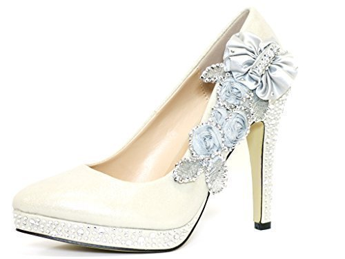 Wedding Shoes - Bride / Bridal / Bridesmaid / Prom / Shoes - Silver - Size 4 UK