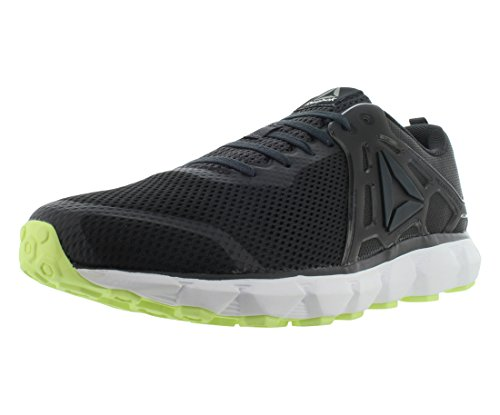 Reebok Men's Hexaffect Run 5.0 MTM Shoe, Coal/Electric Flash/White/Pewter/Alloy, 11.5 M US
