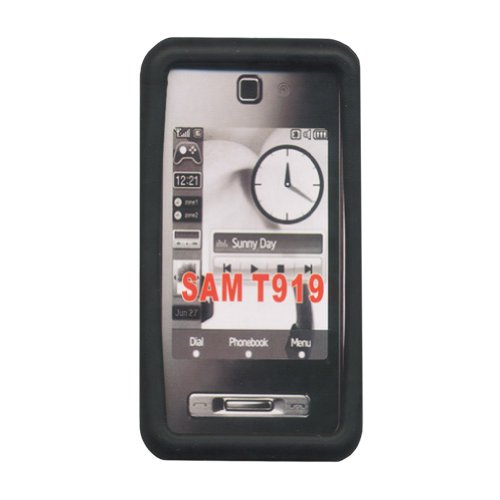 (Mobile-Protector Silicone Case (black) for SAMSUNG T919 Behold)