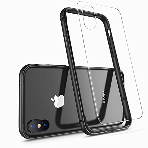 iPhone X Case, iPhone 10 Case,HUMIXX [Extre Series] Aluminum TPU Hybrid Shockproof Bumper Case for iPhone X (Include Clear Back Screen Protector