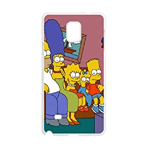 The Simpsons Samsung Galaxy Note 4 Cell Phone Case White