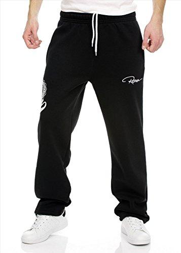 Redrum Jogginghose Sweatpants Sport Hose schwarz weiss Baumwolle Modell Marco S016