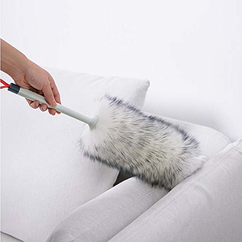 - Lambswool Duster Feather Duster Oicozy Cobweb Vent Car Interior Exterior Hand Wool Bed Duster with Hanging Strap