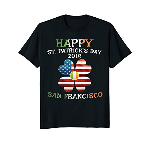 Happy St Patricks Day 2018 San Francisco US and Irish Flag (Happy Patrick San Day)