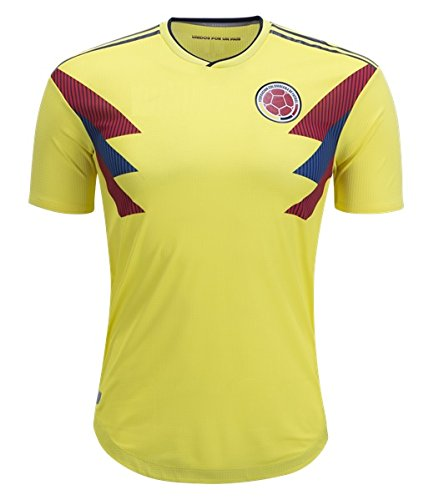 Colombia National Team Soccer Jersey for Mens Yellow Size L