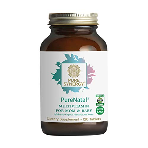 - Pure Synergy PureNatal (120 Tablets) Prenatal Vitamin Made w/ Organic Fruits & Veggies, Gentle on Stomach