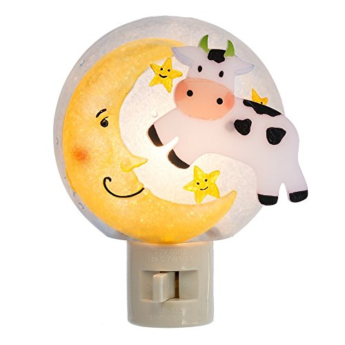 (Midwest-CBK Cow Jumping Over Moon 3 x 4.5 Inch Acrylic Electric Wall Plug-in Night)